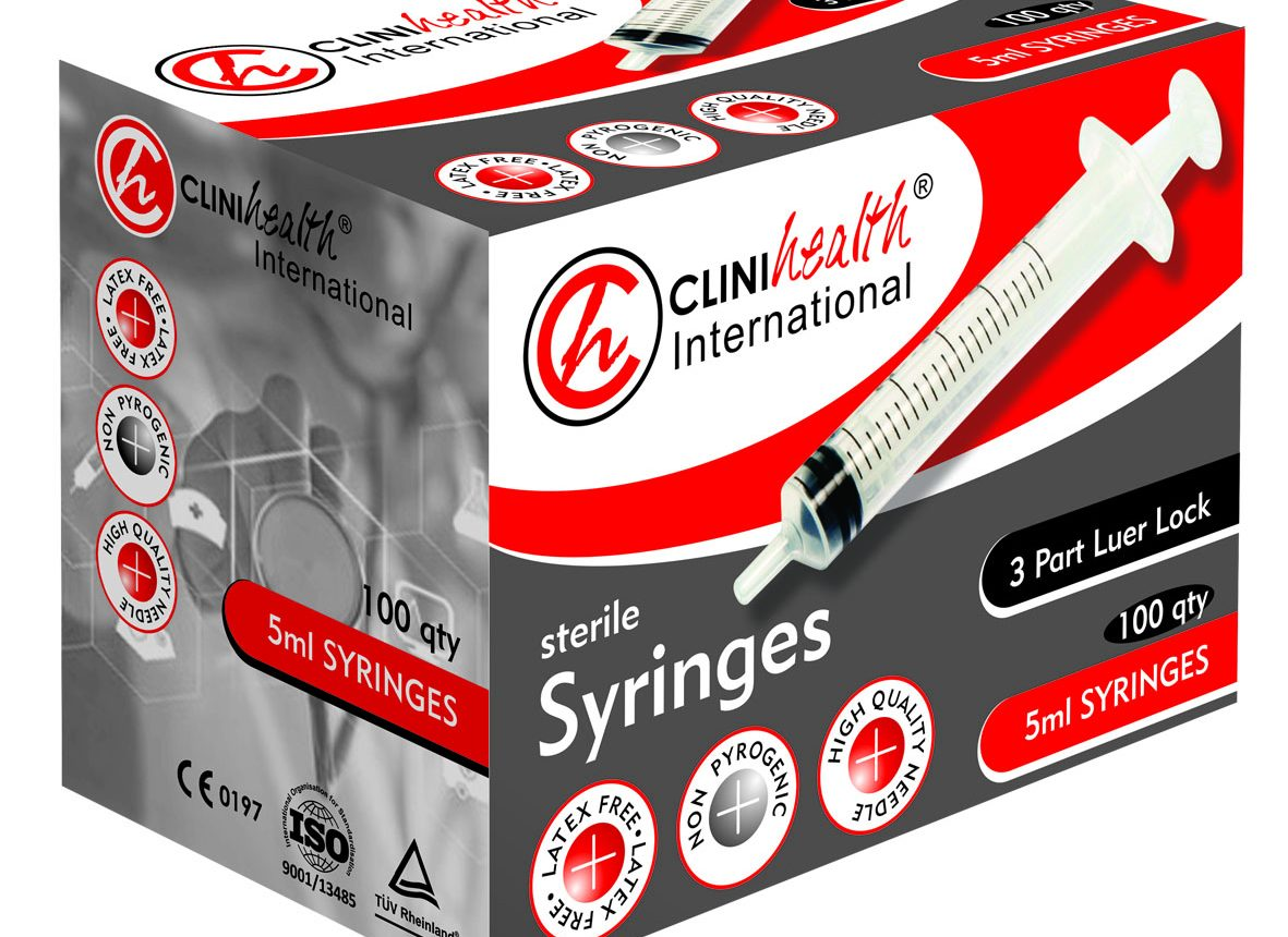 Clinihealth Syringe 5ml plus 22g needle